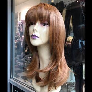 Copper bangs wig Irish skin top wig 2019 hairstyle